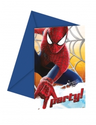 6 Carte di invito The Amazing Spider-Man™