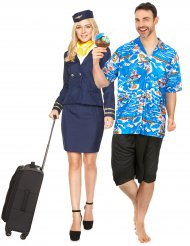 Costume di coppia Hostess e turista per adulto