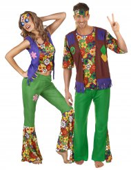 Costume coppia di Hippie Flower Power
