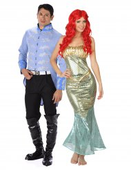 Costume di coppia Sirena e Principe per adulti