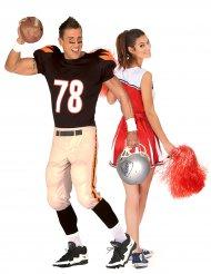 Costume di coppia ragazza pompom e giocatore di football