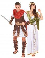 Costume di coppia gladiatore e dea greco romana adulti