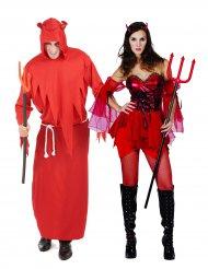 Costume coppia di diavoli per halloween