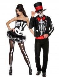 Costume di coppia di scheletri Halloween
