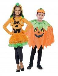 Costume di coppia zucca di Halloween bambino