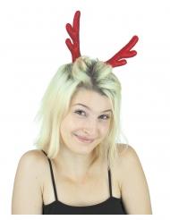 Fermaglio con corna da renna rosse per donna
