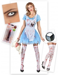 Kit travestimento alice zombie per Halloween