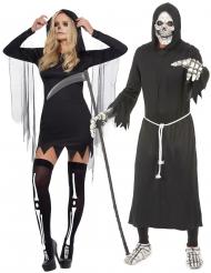 Costume di coppia da Morte per adulti Halloween