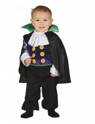 Costume tuta da piccolo conte vampiro bebè
