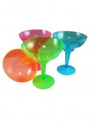 12 Bicchieri da margarita in plastica neon multicolore