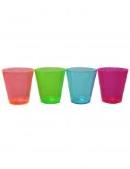 50 Bicchieri da shot in plastica neon multicolore