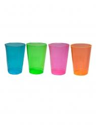 50 Bicchieri mezza pinta in plastica neon multicolore