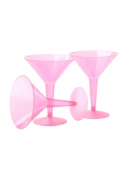 10 coppe martini in plastica rosa 237 ml