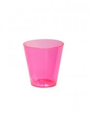 60 Bicchieri da shot in plastica rosa neon