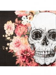 12 Tovaglioli in carta teschio fiorito
