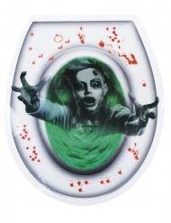 Decorazione adesiva per WC donna fantasma halloween