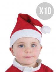 Set 10 cappellini di Natale per bambino