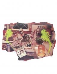 Decorazione scheletro in bagno halloween