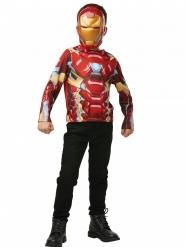 T-shirt e maschera di Iron man™ per bambino