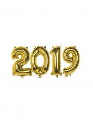 Set Capodanno 2019 Palloncini in alluminio oro 35 cm