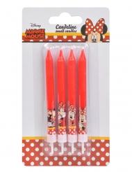 4 Candele di compleanno Minnie™ 9 cm