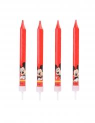 4 Candele di compleanno Topolino™ 9 cm