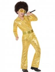 Costume disco dorato per bambino