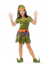 Costume folletto del bosco da bambina