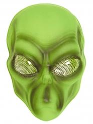 Maschera da alieno per adulto verde