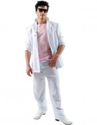 Costume da detective della Florida rosa e bianco per adulto