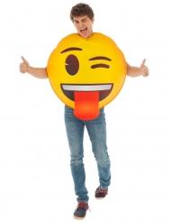 Costume Occhiolino emoji™ per adulto