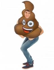 Costume Emoji™ cacca adulto