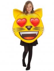 Costume Emoji™ gatto con cuoricini bambino