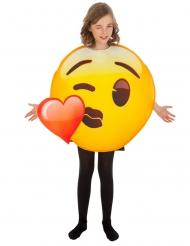 Costume Emoji™ bacio bambino