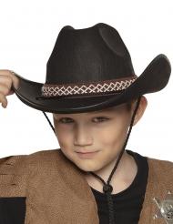Cappello da cowboy nero per bambini