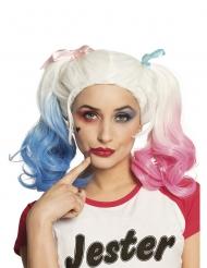 Parrucca con code rosa e blu per donna