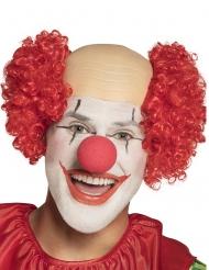 Parrucca da clown con testa calva per uomo