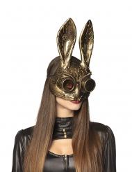 Mezza maschera da coniglio steampunk per adulto