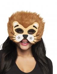 Mezza maschera da leone per adulto