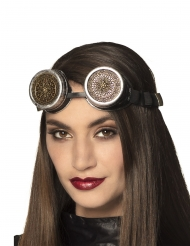 Occhiali steampunk con rosoni per adulto