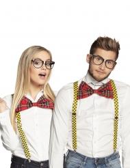 Kit occhiali e papillon da intellettuale adulto