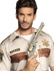 Pistola revolver del cowboy argentata