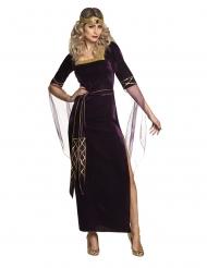 Costume viola da lady medievale per donna