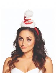 Mini cappello a spirale Babbo Natale adulto