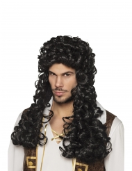 Parrucca nera lunga e riccia per adulto
