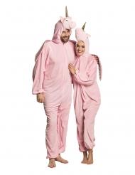 Costume da unicorno rosa per adulto
