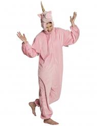 Costume da unicorno rosa per adolescente