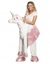 Costume donna a dorso di unicorno per adulto
