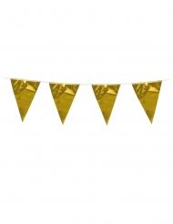 Ghirlanda con piccole bandierine oro