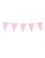 Ghirlanda di mini bandierine rosa